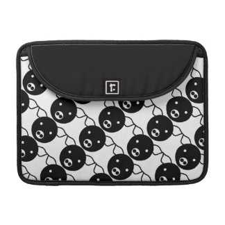 Cute Black and White Piggy Faces Cartoon Pattern Sleeves For MacBook Pro