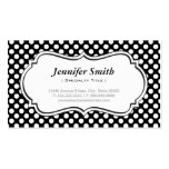 Cute Black and White Polka Dots - Simple Elegant Business Card