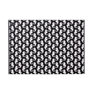 Cute Black and White Seahorse Pattern Cases For iPad Mini
