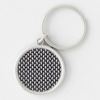 Cute Black and White Seahorse Pattern Key Chains