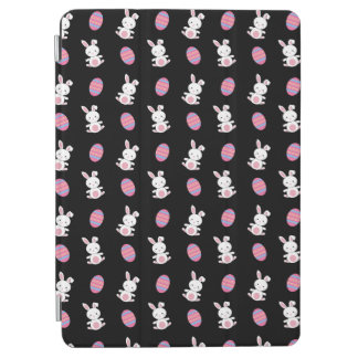 Cute black baby bunny easter pattern iPad air cover
