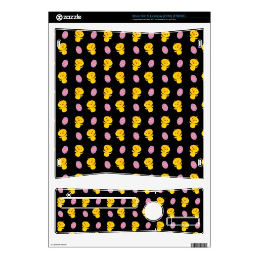 Cute black baby chick easter pattern xbox 360 s decals