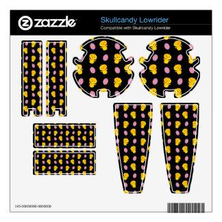 Cute black baby chick easter pattern skullcandy lowrider skins