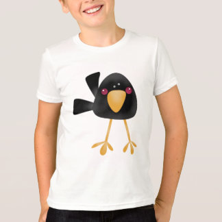 Cute Black Baby Crow Kids T-Shirt