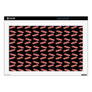 "Cute black bacon pattern skins for 17"" laptops"