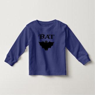 Cute Black Bat Halloween Typography Tee Shirts