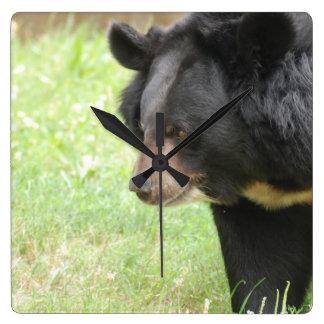 Cute Black Bear Clocks
