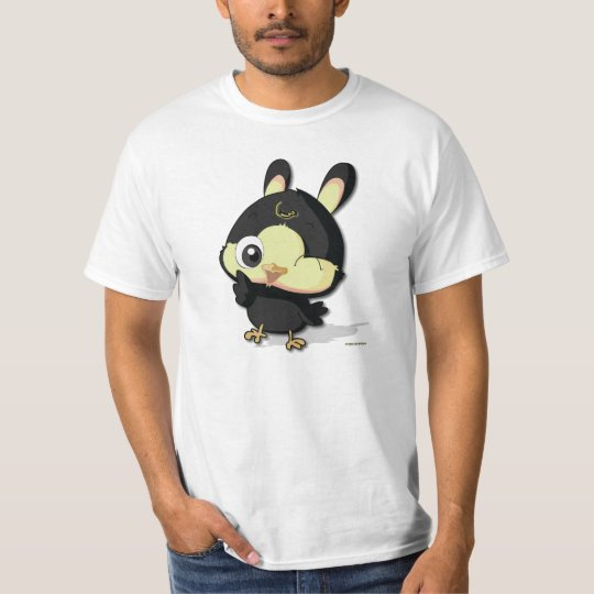 Cute Black Bird Funny Cartoon Character T-shirt