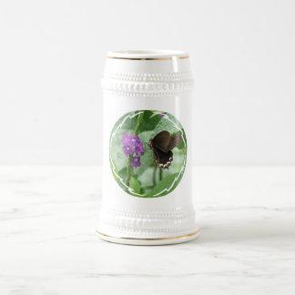Cute Black Butterfly Beer Stein Mug