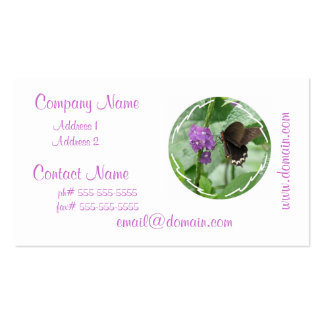 Cute Black Butterfly Business Cards