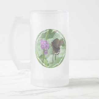 Cute Black Butterfly Frosted Mug
