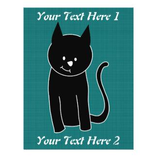 "Cute Black Cat 8.5"" X 11"" Flyer"