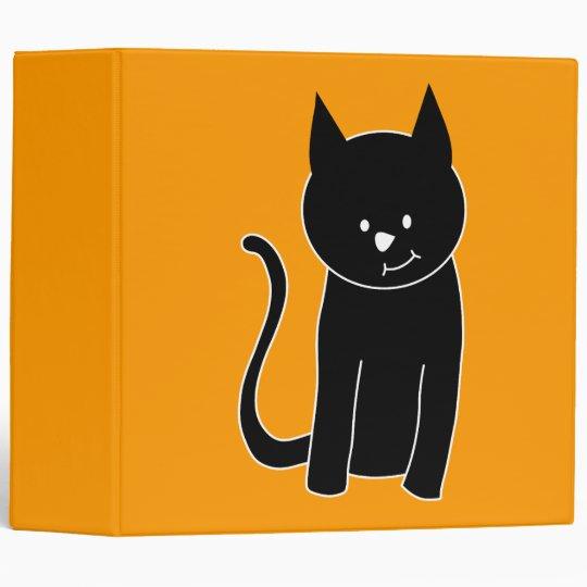 Cute Black Cat Binder