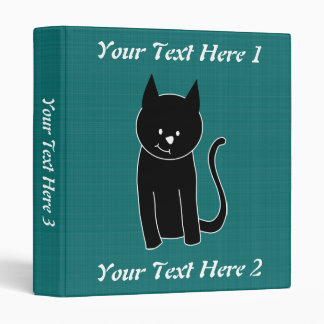 Cute Black Cat Binder