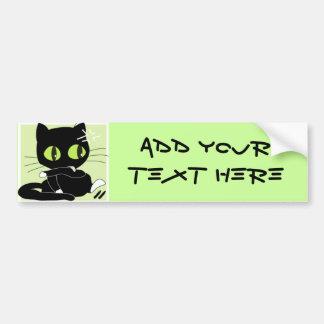 Cute Black Cat Bumper Sticker