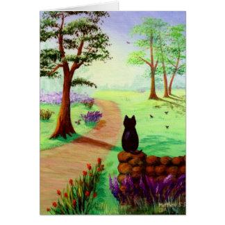 Cute Black Cat Card Creationarts