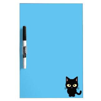 Cute black cat cartoon dry erase board