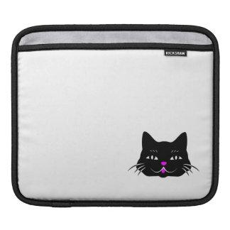 Cute Black Cat Cartoon iPad Sleeve