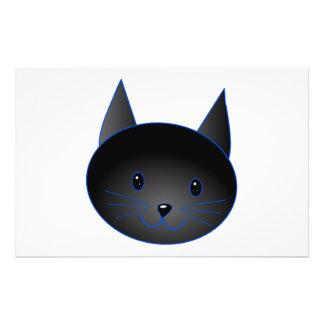 "Cute Black Cat. Cat Cartoon illustration. 5.5"" X 8.5"" Flyer"