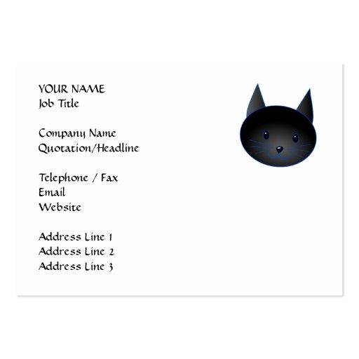 Cute Black Cat. Cat Cartoon illustration. Business Card Templates