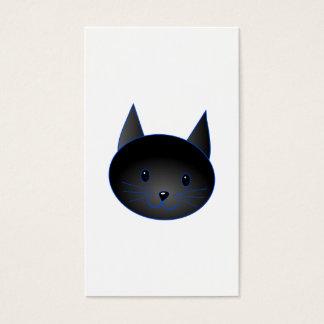 Cute Black Cat. Cat Cartoon illustration. Business Card