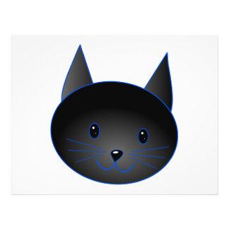 Cute Black Cat. Cat Cartoon illustration. Flyer