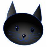 Cute Black Cat. Cat Cartoon illustration. Acrylic Cut Outs
