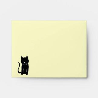 Cute Black Cat Envelope