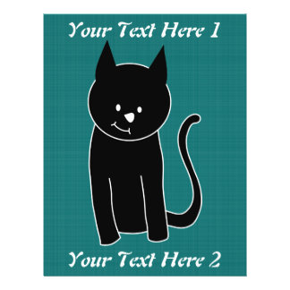 Cute Black Cat Full Color Flyer