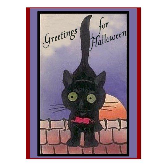 Cute Black Cat Halloween Cards