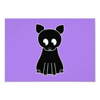 Cute Black Cat. 3.5x5 Paper Invitation Card