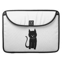 Cute Black Cat MacBook Pro Sleeve