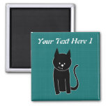 Cute Black Cat Magnet at Zazzle