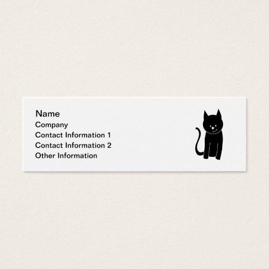 Cute Black Cat Mini Business Card