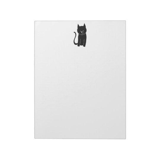 Cute Black Cat Notepad