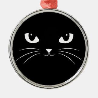 Cute Black Cat Christmas Ornament