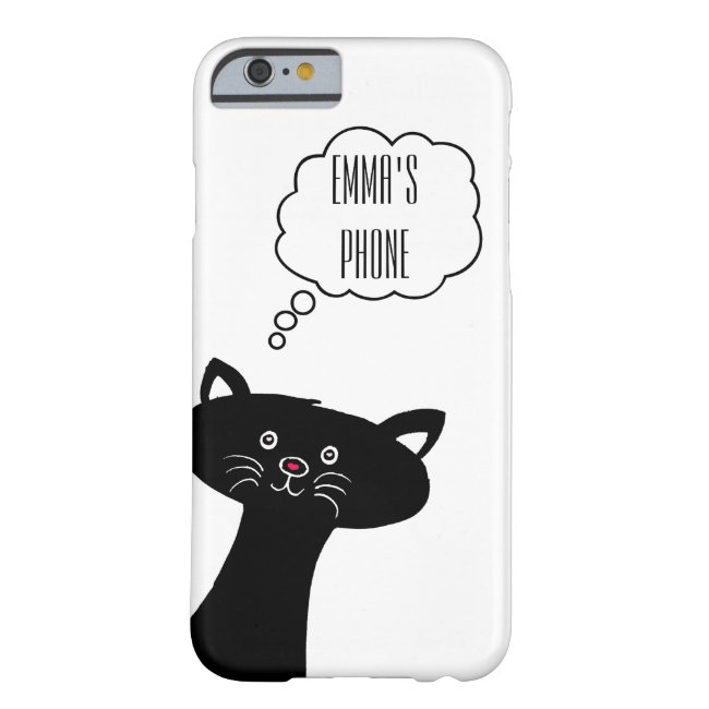 Cute Black Cat Personalized Phone Case
