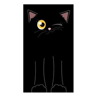 Cute Black Cat Pet Sitting Service Business Card