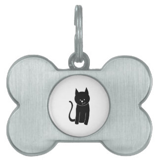 Cute Black Cat. Pet Tag