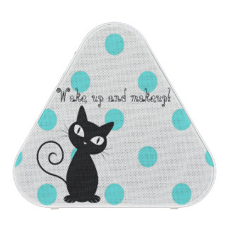 Cute Black Cat,Polka Dots-Wake up and makeup! Bluetooth Speaker