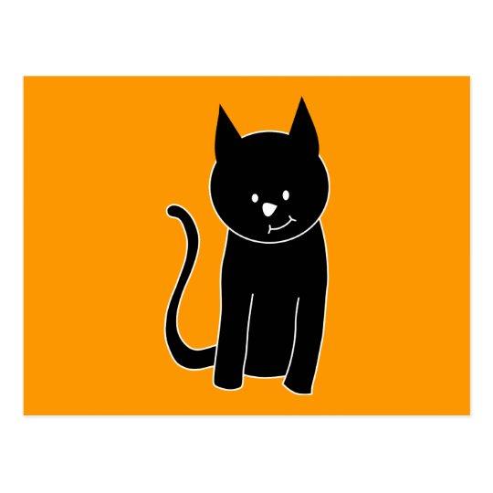 Cute Black Cat Postcard