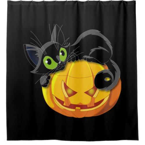 Cute Black Cat Pumpkin