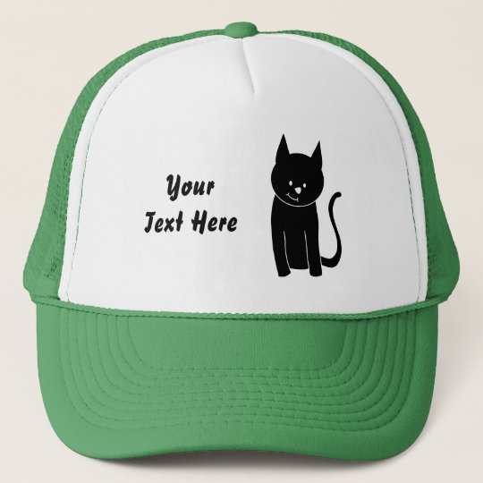 Cute Black Cat Trucker Hat