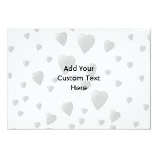 Cute Black Cat with Hearts. 3.5x5 Paper Invitation Card