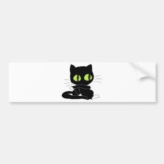 Cute Black Cat with White Paws Bumper Sticker