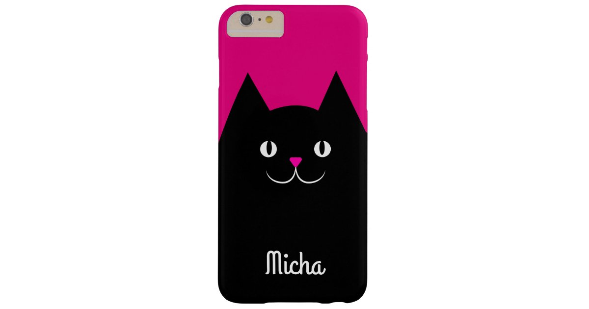 Cute Black Cat With Your Kitten S Name Case Mate Iphone Case Zazzle Com