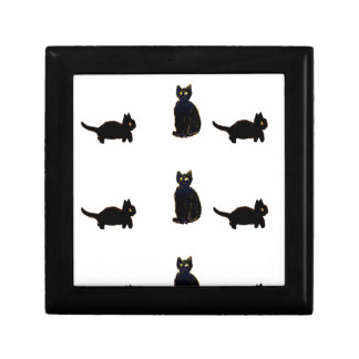 Cute Black Cats Art Gift Boxes
