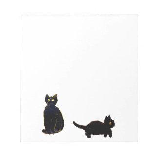 Cute Black Cats Art Note Pad