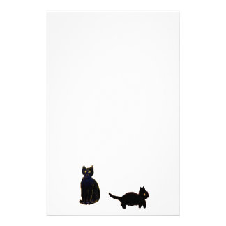 Cute Black Cats Art Stationery