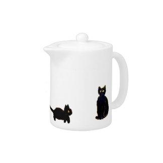 Cute Black Cats Art Teapot